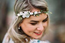 10-18 banda flores pelo Diadem joyas novia boda Wedding hairdress Boho
