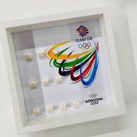 Display Frame for Lego Team GB 8909 Olympics minifigures no figures 27cm