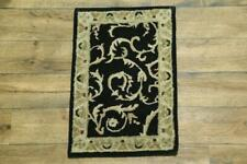 Traditional Floral All-Over Vintage Style Agra Oriental Hand-Tufted 2x3 Wool Rug