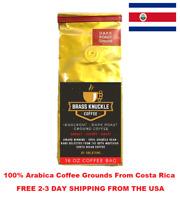 Brass Knuckle Coffee by GoldTone - KNOCKOUT - Strong Dark Roast, Arabica, Ground