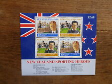 NEW ZEALAND HEALTH STAMPS 1990 SPORTING HEROES 4 STAMP MINI SHEET MNH