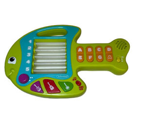 Infantino Go Gaga! Lights & Music Learning Fish Guitar Green Baby Toddler