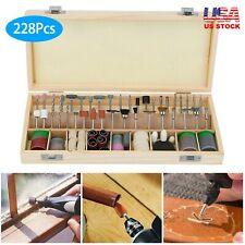 228Pcs Rotary Tool Accessories Kit For Dremel Grinding Polishing Shank Craft