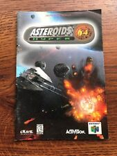 Asteroids Hyper 64 N64 Nintendo 64 Instruction Manual Only