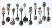 Lot of 11 Souvenir Spoons Lot A -- Islands of the Caribbean