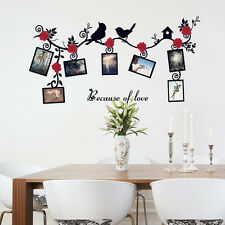 Birds Flower Home Room Decor Art Wall Decal Stickers Bedroom Removable Mural DIY