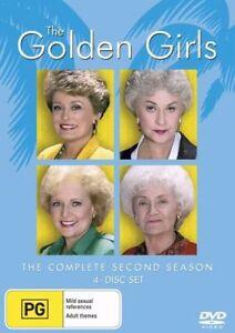 The Golden Girls : Season 2 (DVD, 2005, 4-Disc Set), NEW SEALED REG 4