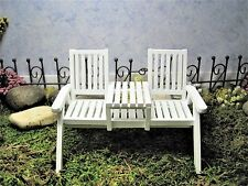 Dollhouse Miniature ~ Adirondack Loveseat ~ Fairy Garden ~ Garden ~ Yard ~