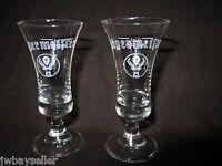 "Jagermeister Stemmed Footed Clear Shot Cordial Glasses 2 cl Leerdam 3.75"""