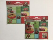 2 Pkgs 16 Tags Each Disney Peel and Stick Foil Gift Tags Cars Mater McQueen