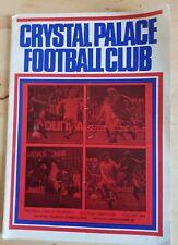 Vintage Crystal Palace v Sunderland March 1974 Division Two Programme