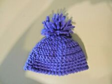 Crocheted Hand-Made Girl's Kid's Child's Purple Hat with Pom Pom