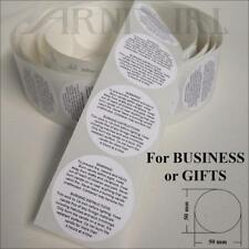 5cm WARNING INSTRUCTION LABELS for CANDLE MAKING SUPPLIES 50mm STICKERS 50-1000