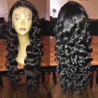 Soft Loose Wave Lace Front Wigs Brazilian Virgin Human Hair Full Lace Wig Women