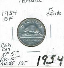 1954 5C Canada 5 Cents