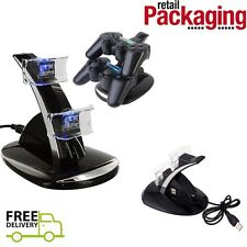 For PS3 Console DECK Dual Controller Charger LED Charging Dock Station Stand
