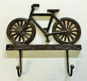 BIKE 2 HOOK WALL HANGER Towel Coat Hat Rack farmhouse country vintage bicycle