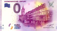 ALLEMAGNE Erfurt, Krämerbrücke, 2017, Billet 0 € Souvenir