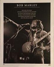 BOB MARLEY Poster - One Love Lyrics Medium Size Print ~ B&W Live Reggae Poster