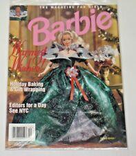 1995 Nov Dec Barbie Magazine Holiday Factory Sealed Mint New Fleer Card