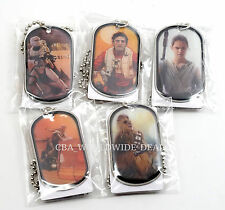 NEW Topps Star Wars The Force Awakens Collectible Metal Silver Dog Tags SET OF 5