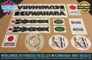 Kuwahara NOVA BMX Decal Set (1983-1985 Black) Official Licensed Product! Factory