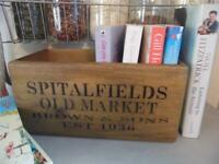 PINE CRATE BOX APPLES & PEARS SPITALFIELDS MARKET HAND CRAFTED VINTAGE STYLE