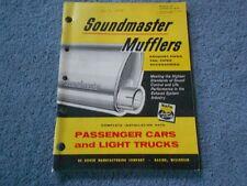 VINTAGE 1959 SOUNDMASTER MUFFLERS PASSENGER CARS & LIGHT TRUCKS CATALOG DK-59