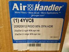 AIR HANDLER Rigid Cell Filter 20X20X12 Inches - 4YVC6
