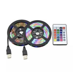 DC 5V USB 2835 LED RGB Strip Lamp RGB Book Light Bulb TV Backdrop Background Dec