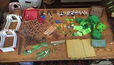 Huge Lot Playmobil Horses Stable