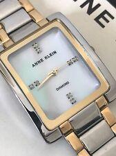 Anne Klein AK/2789MPTT Diamond Accent Two-Tone Bracelet Mother Of Pearl Watch