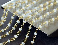 VERMAIL - SOLID 925 STERLING SILVER LINK CHAIN - 1 FOOT - NATURAL SAPPHIRE#D3912