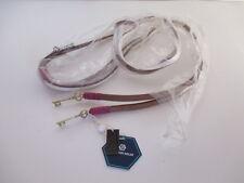 Jonathan Adler Leather Key Belt White purple White NWT $68 Sz M/L