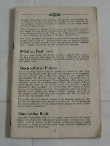 Chevrolet Owners Handbook Manual 1935 Master Deluxe Standard Six Holden Body