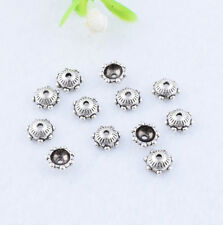100pcs Tibetan Silver Small  Bead Caps 6mm End Beads Necklaces Bracelets Finding