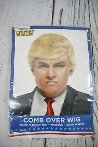 Mr President Wig Donald Trump Halloween Cosplay Costume Hairpiece Comb Over