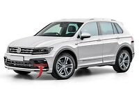 Neuf Original Volkswagen VW Tiguan R-Line Pare Choc Avant Bord Haut Chrome Left
