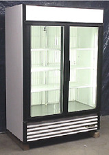 Used True Two Glass Door Freezer Merchandiser