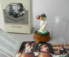 Figurine Robert Raikes Teddy Bear Casey 2in 1991 Applause Glass Dome Boxed Cert