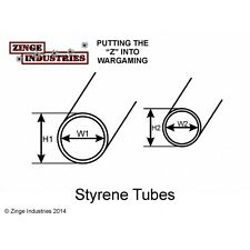 Zinge Industries 2 x tubi di stirene lunghezze 160 mm 5.5 mm & 4 mm Diametro A-TUB01