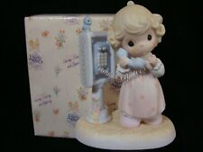 Precious Moments-Girl Talking On Payphone-So Cute!-Limited Edition