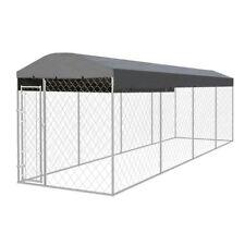 Vidaxl perrera de exterior con techo 800x200 cm