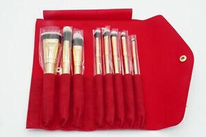 LUXIE 8PIECE GLITTER & GOLD BRUSH SET WITH RED CARRY CASE NEW SEALED 🦋