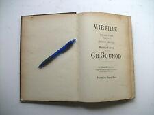 """""""MIREILLE"""" opéra musique Gounod + """"CARMEN"""" opéra musique Bizet  piano seul ~1900"""