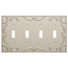 Quad Switch Plate French Lace Nickel Brainerd W10696