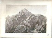 1880 PLANAVAL VALGRISENCHE Arvier Valle d'Aosta litografia alpinismo
