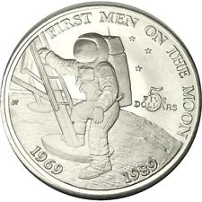 elf  Marshall Islands $5 1989 Astronaut Moon Landing original plastic