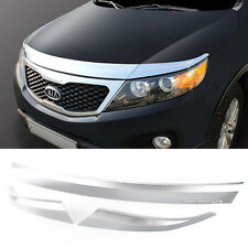 Chrome Bonnet Hood Guard Garnish Molding K895 for KIA 2010 - 2014 Sorento R