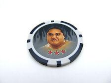 "WWE Topps ""Yokozuna"" Power Chipz 2011 (1.5"") Grey Poker Chip #L14 *New Rare VHTF"